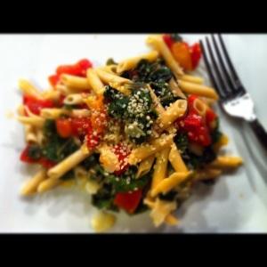 Gluten Free Pasta with Sauteed Tomatoes, Garlic, Swiss Chard and Hemp ...