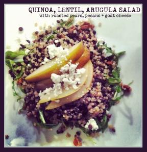 Quinoa, Lentil, Arugula Salad