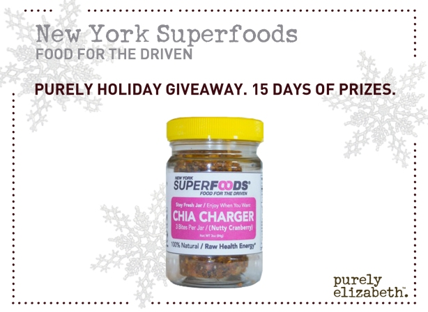 Purely Holiday Giveaway New York Superfoods