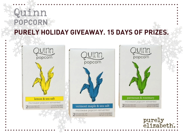 Purely Holiday Giveaway Quinn Popcorn