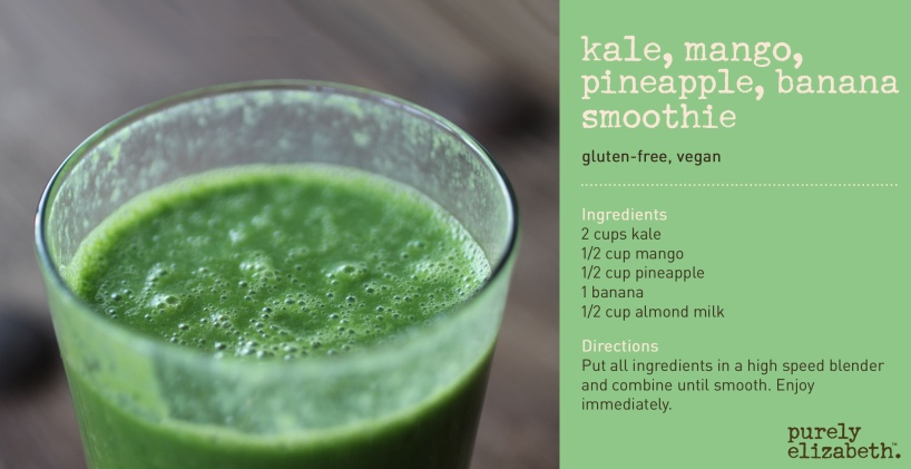 Kale Mango Pineapple Banana Smoothie