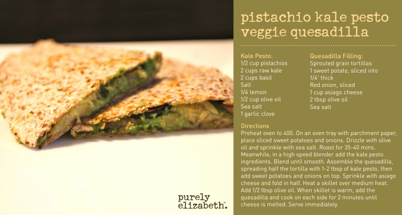 Pistachio Kale Veggie Quesadilla