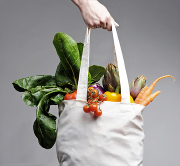 Grocery Bag with Veggies