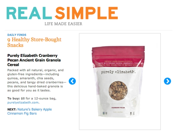 Real Simple Mag 9 Healthy Snacks