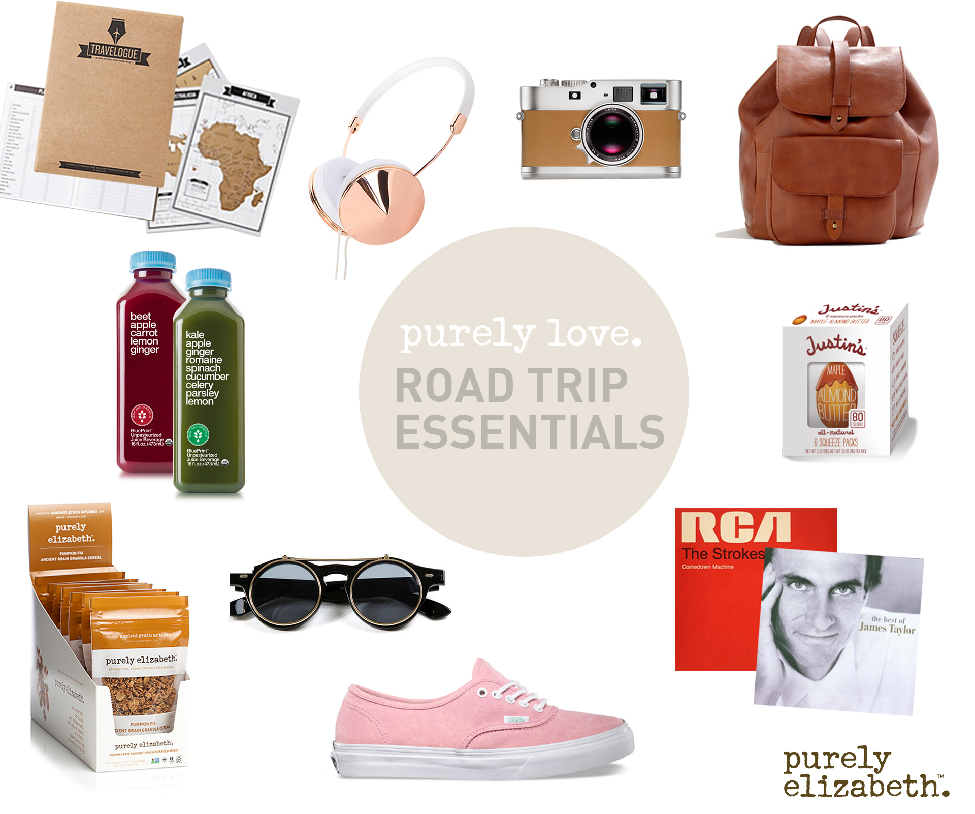 purely love: road trip essentials | eat purely. live purely.