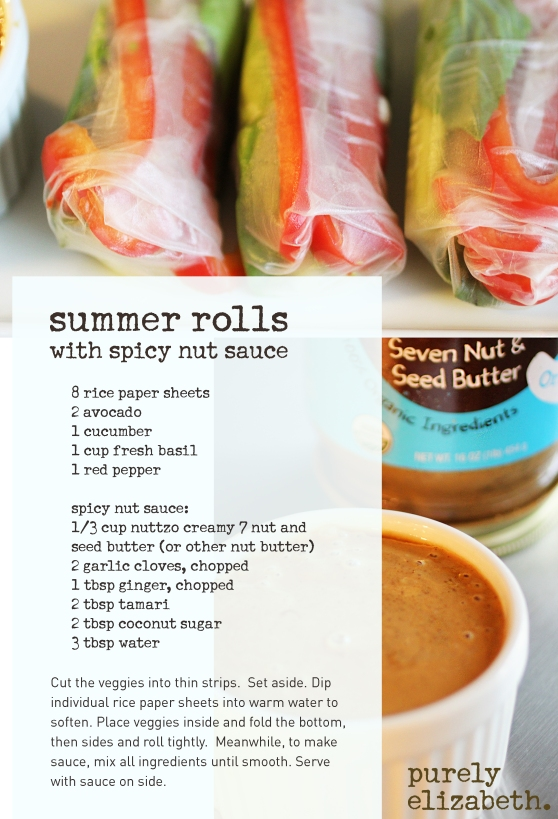 Summer Rolls with Spicy Nut Sauce