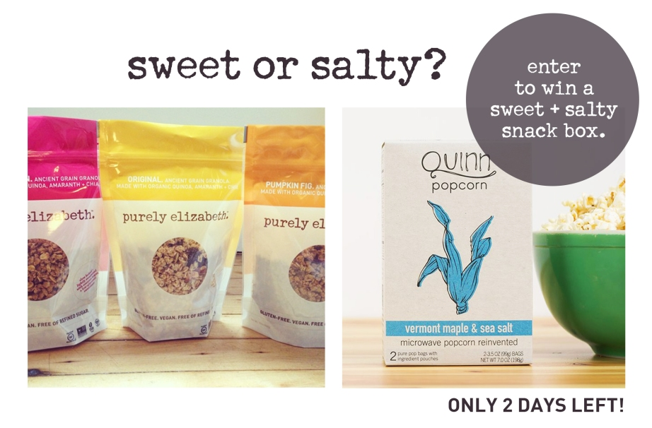 Sweet or Salty 2 Days Left