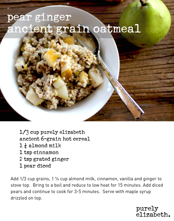 Pear Ginger Ancient Grain Oatmeal