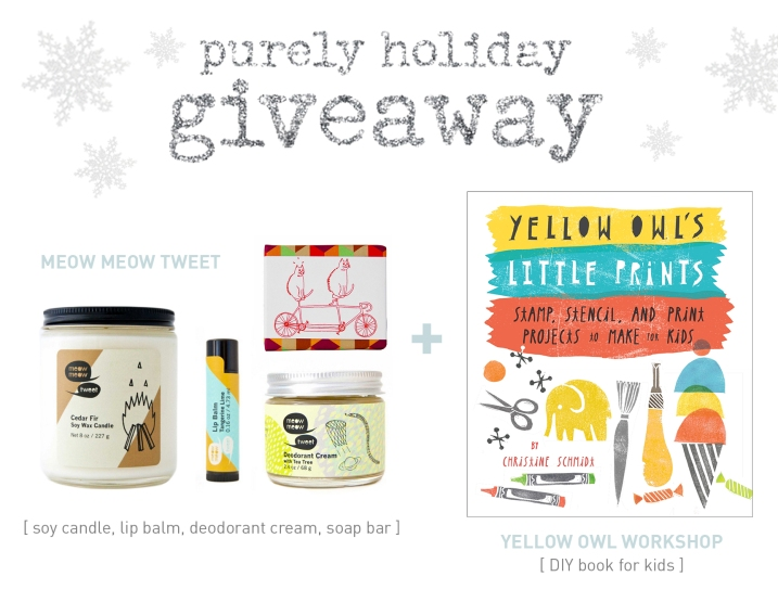 Purely Holiday Giveaway Meow Meow Tweet and Yellow Owl