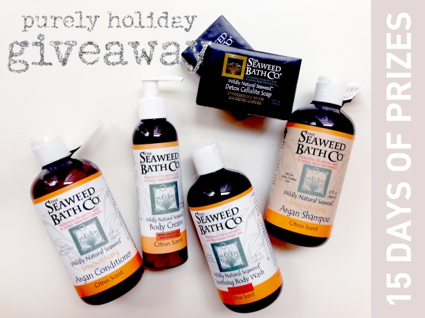 Purely Holiday Giveaway Seaweed Bath Co