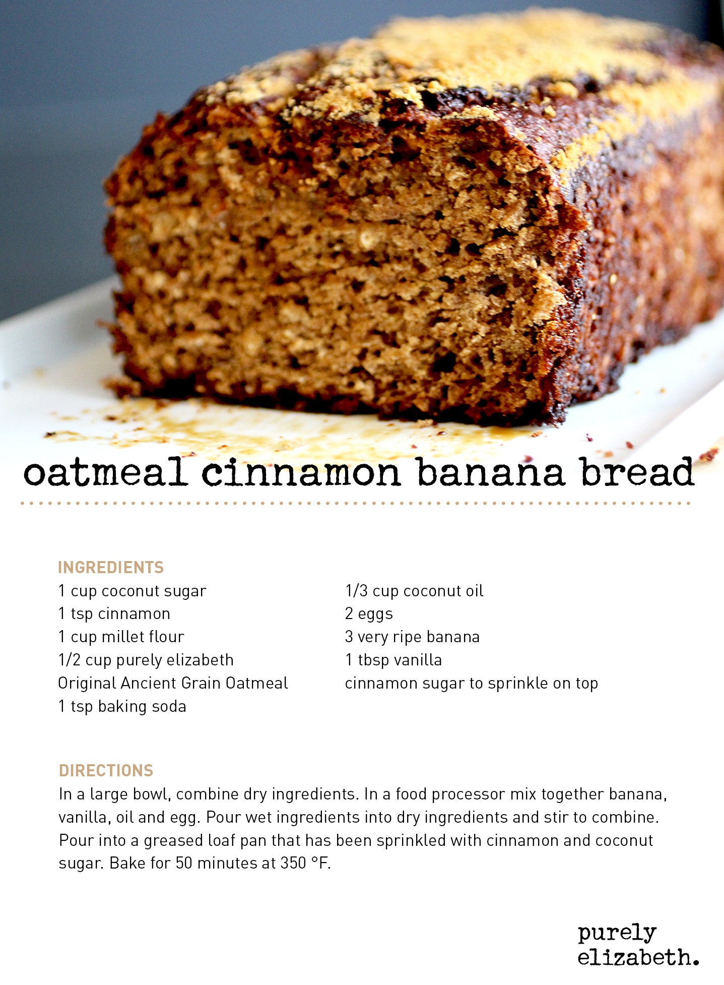 Oatmeal cinnamon banana bread eat purely live purely forumfinder Images