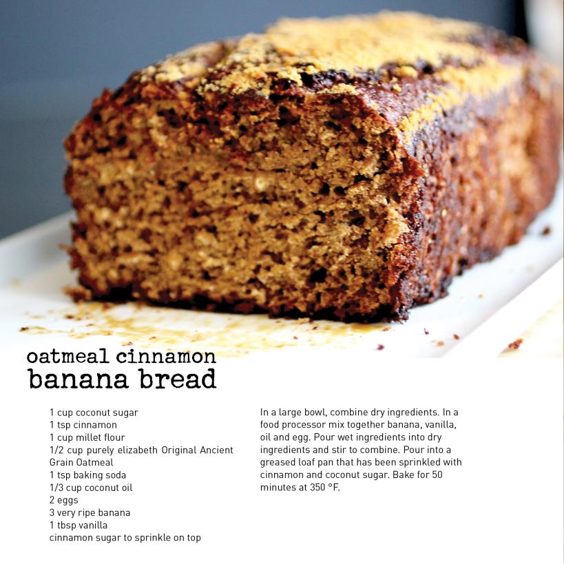 Oatmeal Cinnamon Banana Bread