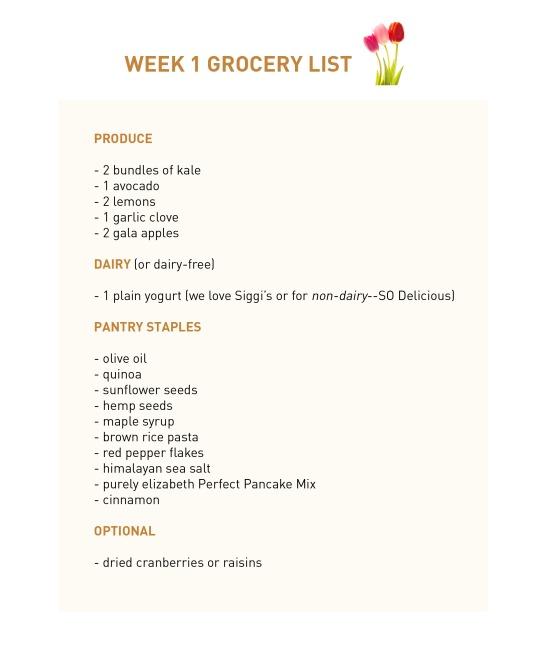 Week 1 Grocery List