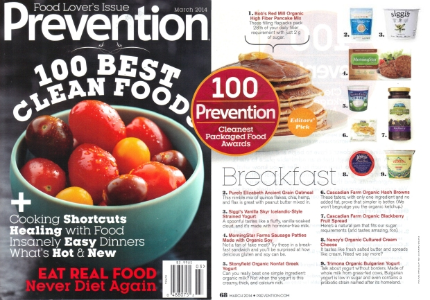 Prevention 100 Cleanest Packaged Foods