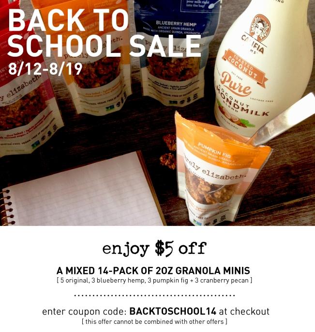 Purely Elizabeth Back to School Sale