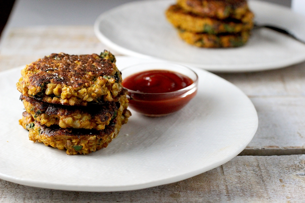 amaranth fritters
