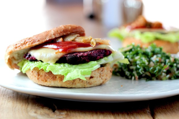 Millet Beet Black Bean Burger