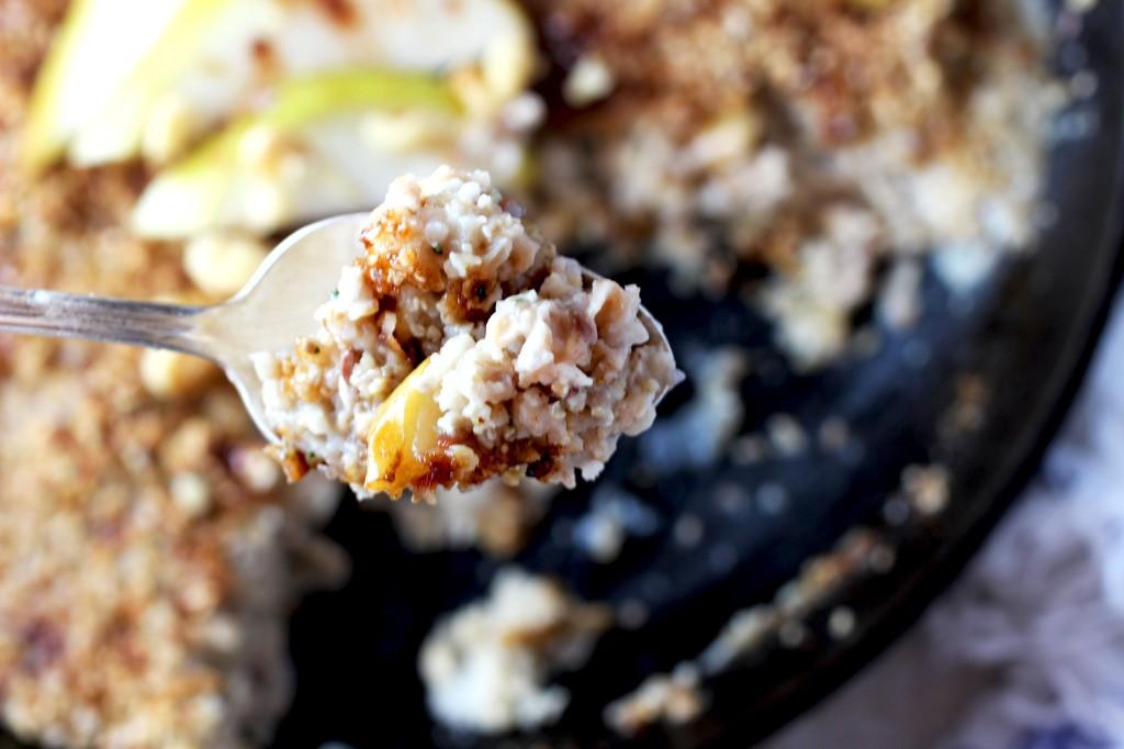 Pear Ginger Oatmeal Brulee | purely elizabeth