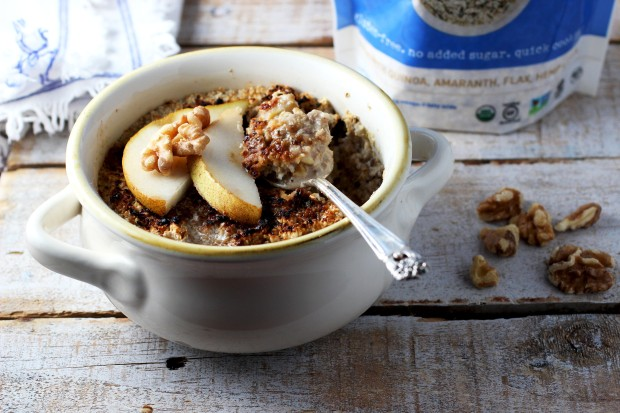 Pear Ginger Oatmeal Brulee