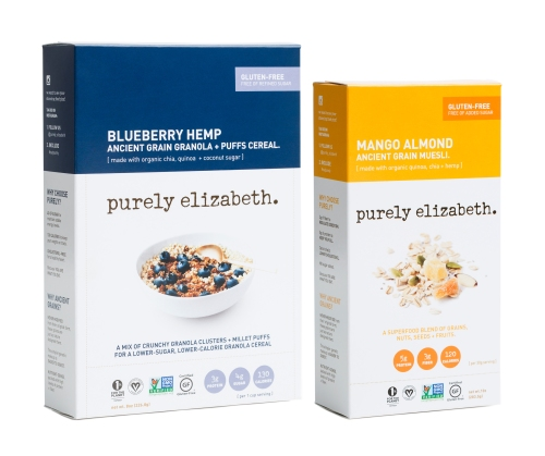 Blueberry Hemp Granola + Puffs and Mango Almond Muesli